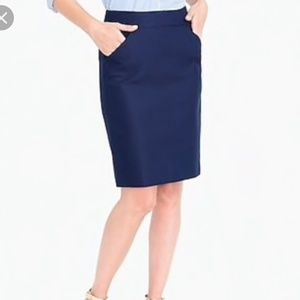 J Crew Navy Pencil Skirt